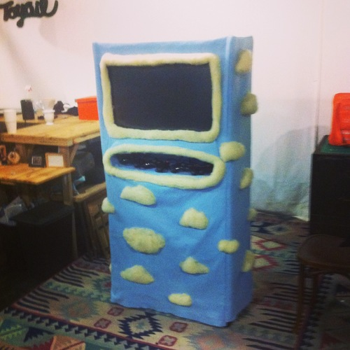 An Arcade Cabinet Made From Felted Wool