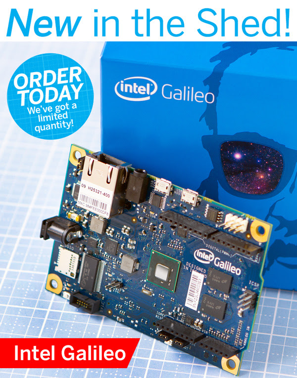 Intel Galileo Available in the Maker Shed (Quantities Limited)