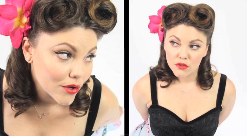 Pin-Up Hair + Make-Up