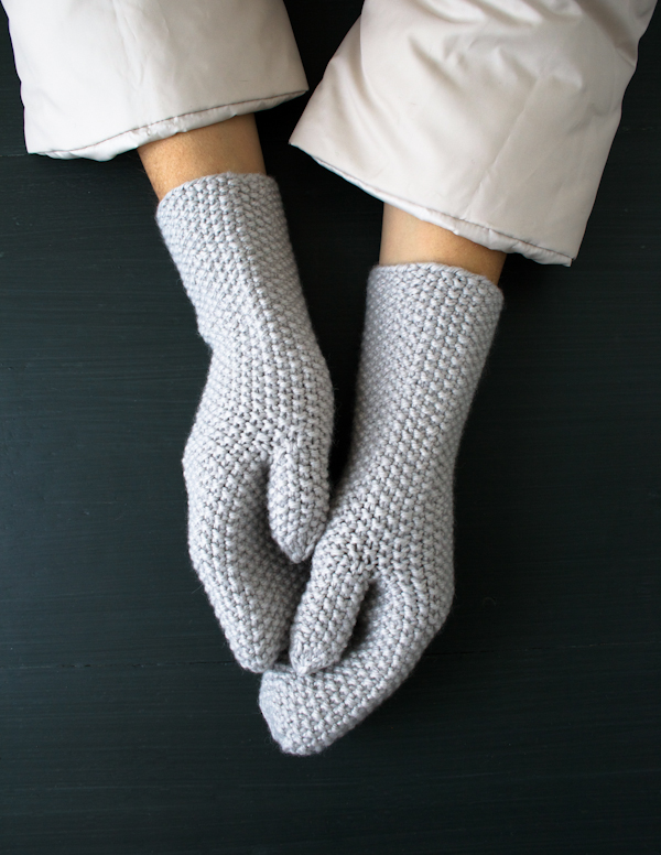 How-To: Seed Stitch Mittens