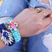 cord + jewel bracelet