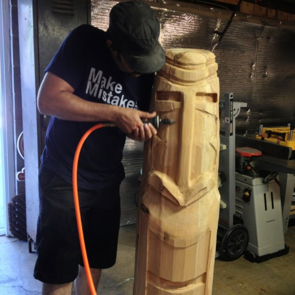 Routing a Four Foot Tall Tiki Sculpture