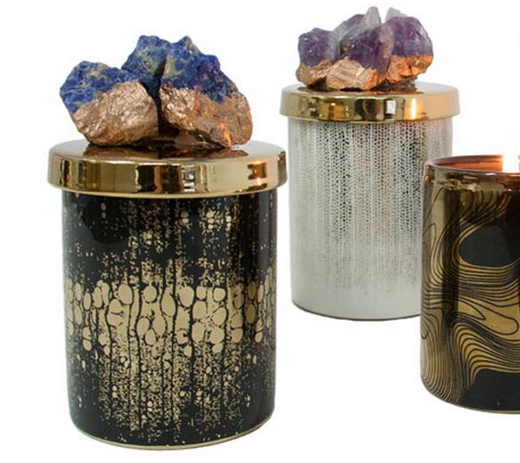 Jeweled Candle Lid