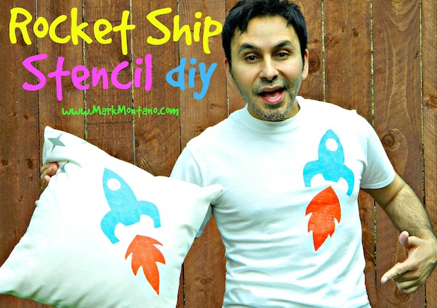 How-To: Rocket Ship T-Shirt Stencil