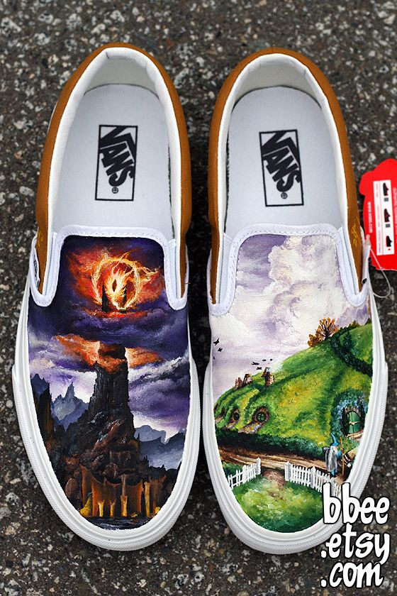 Hand Painted Lord Of The Rings Shoes Make