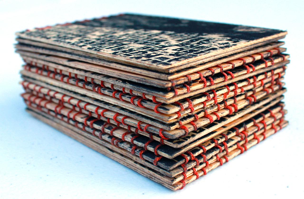 Relief Printed Wood Book