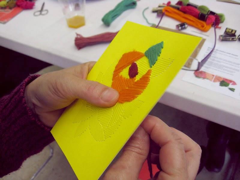 Embroidered Postcards workshop