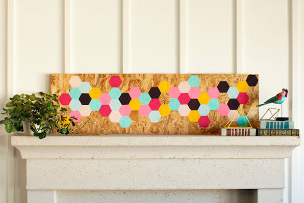 How-To: Geometric Wooden Wall Art Panel
