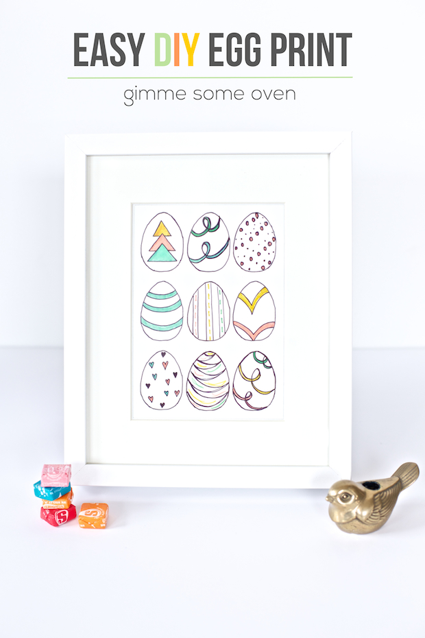 How-To: DIY Easter Egg Wall Art