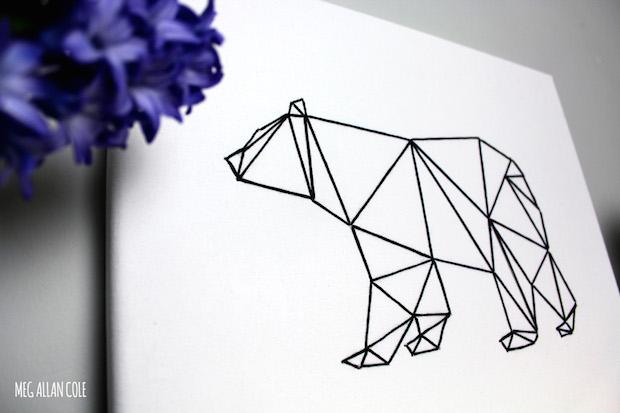 How-To: Geometric Bear String Art
