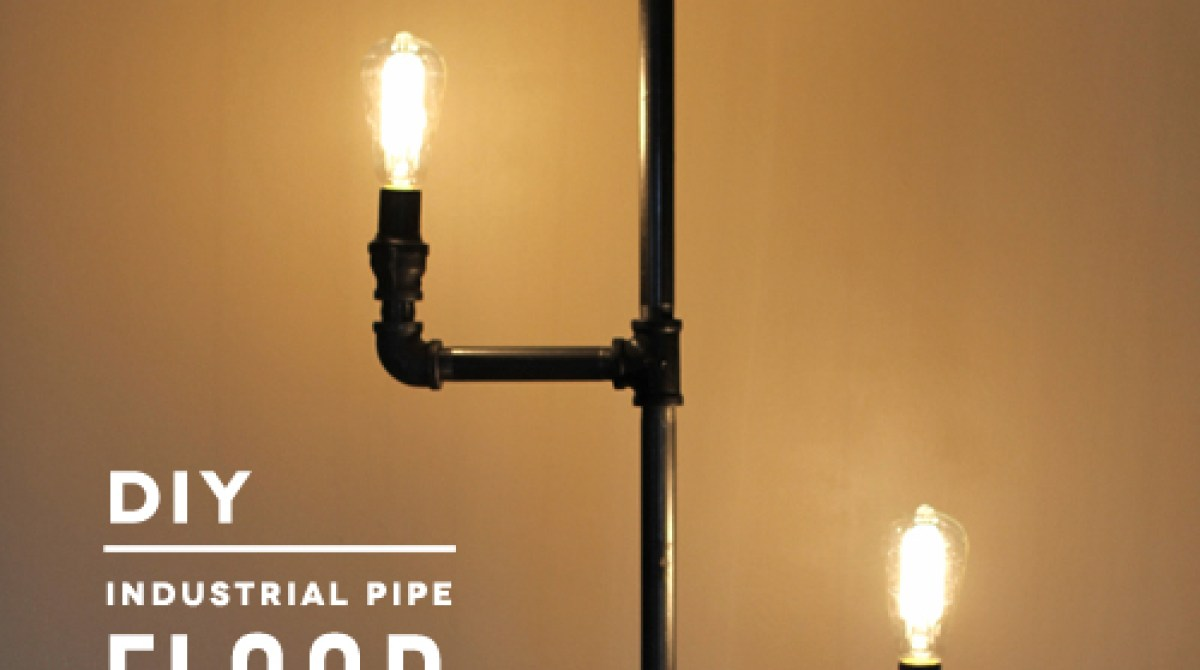 How to industrial pipe floor lamp make article featured image solutioingenieria Image collections