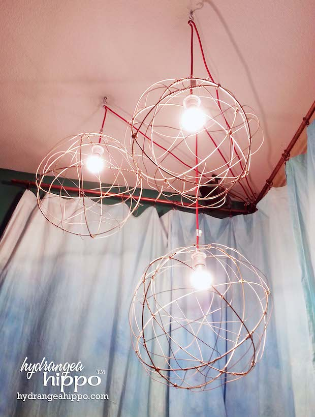 How-To: DIY Wire Ball Pendant Lamps