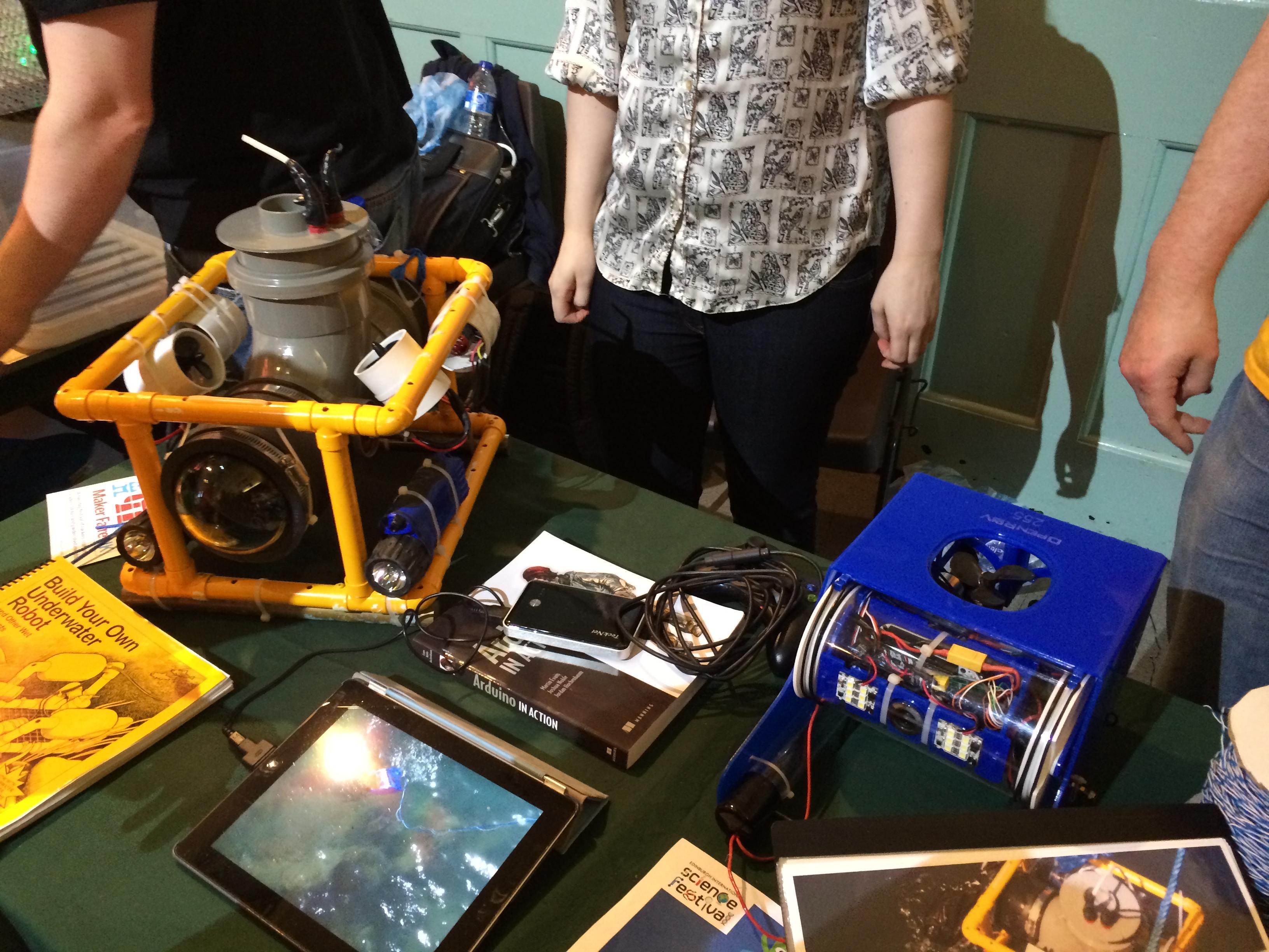 Underwater ROV at the Edinburgh mini Maker Faire
