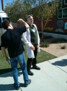 Every Maker Faire has its epic lab coat-wearing maker - at the Las Vegas Mini Maker Faire, it was Krux.