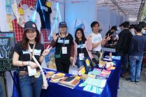 The merch booth at Maker Faire Shenzhen was run by Seeed Studio.