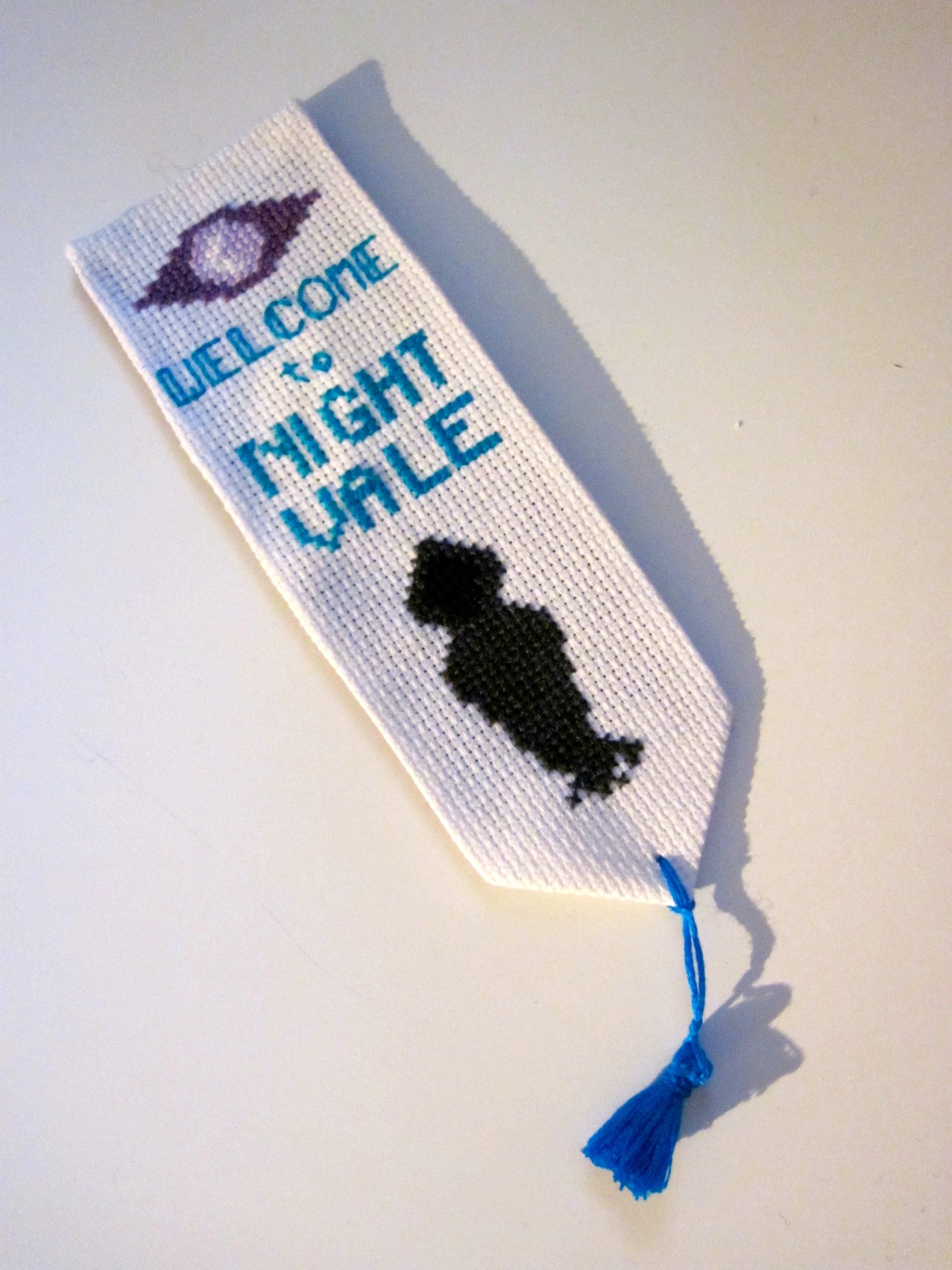 Cross-Stitched Welcome To Night Vale Bookmarks