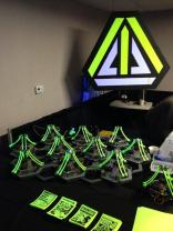 The Robot Army is a collaborative project by Sarah Petkus and Mark Koch. This army is controlled by hand movements tracked by an Xbox Kinect sensor. You'll see an even larger Robot Army at Maker Faire Bay Area in May.