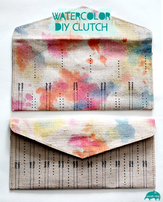 How-To: Watercolor Clutch