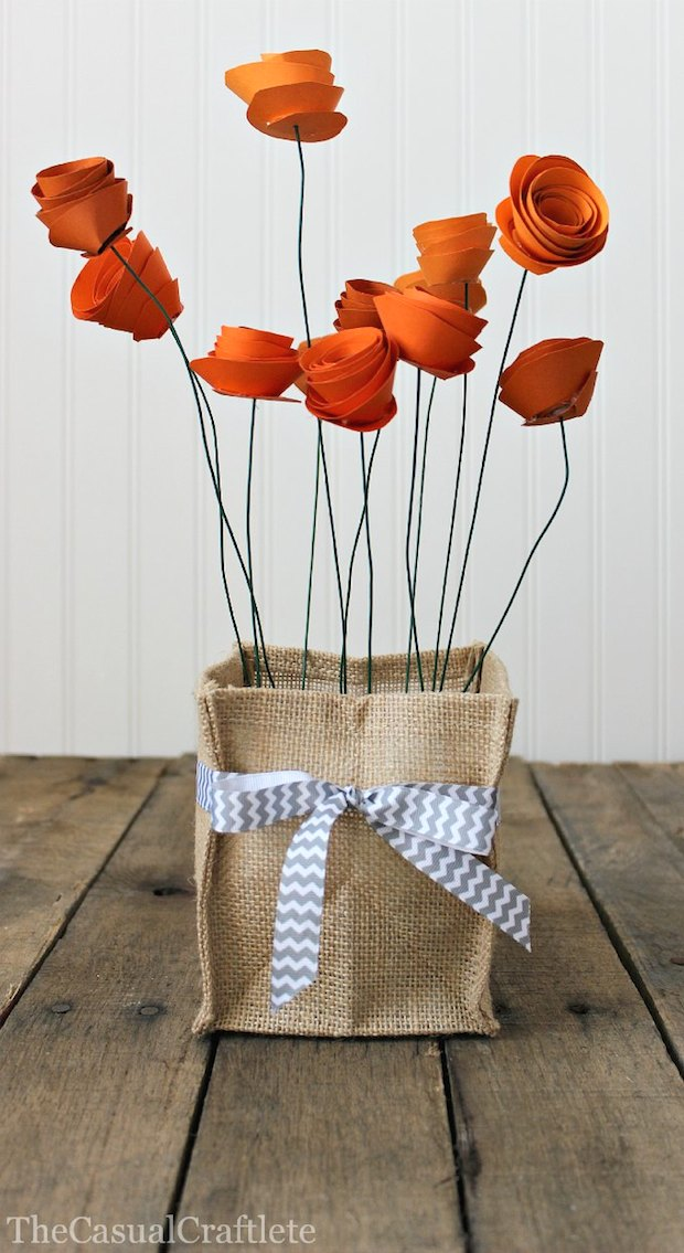 How-To: Paper Flower Centerpiece