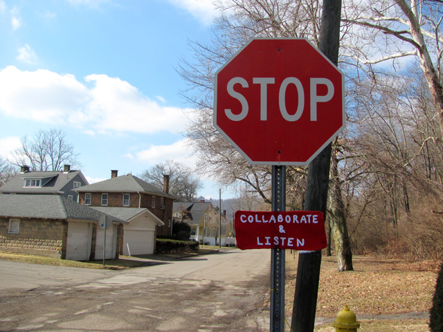 Stop, Collaborate, and Yarn Bomb