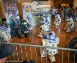 R2D2 makers were out in force. The time and dedication that they put into their fully functional R2D2 replicas is really amazing. Some of the more advanced R2D2 models incorporated functionality and automation that went far beyond what I had imagined.