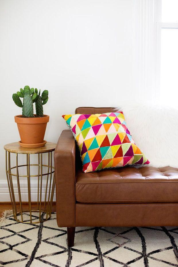 How-To: Geometric Wool Felt Pillow