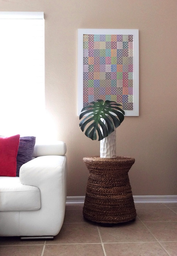 How-To: Patterned Paint Chip Wall Art