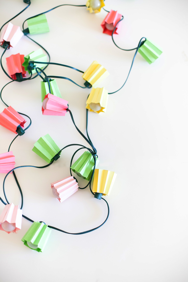 How-To: Folded Paper Light Strands