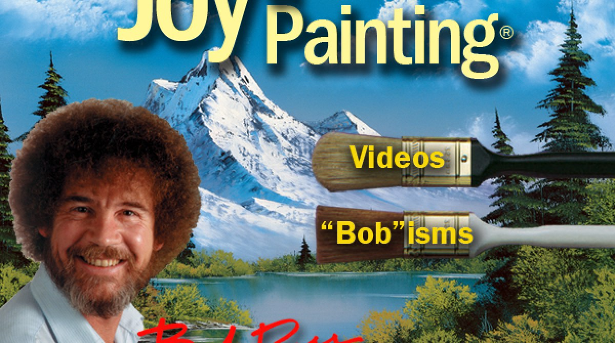 """Bob Ross """"The Joy of Painting"""" Smartphone and Tablet Apps"""