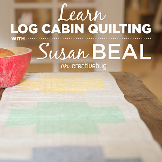 Log Cabin Quilting with Susan Beal + 3-Month Creativebug Subscription Giveaway