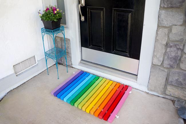 How-To: DIY Rainbow Doormat