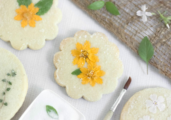 Recipe: Flower and Herb Shortbread Cookies