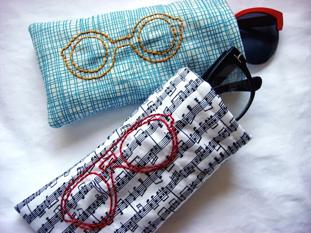 How-To: Embroidered Glasses Case