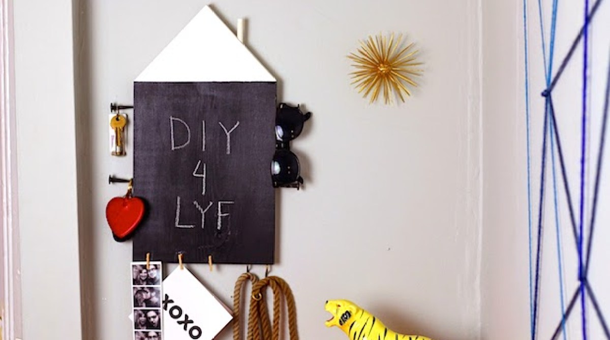 How-To: Modern Home Chalkboard Organizer