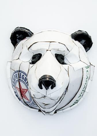 Laurence Vallières' Animal Masks From Salvaged Cardboard