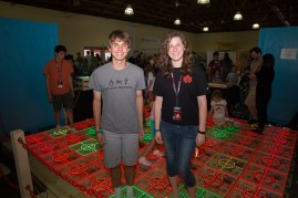 Young Makers Sami McGuinnis and Davis Dunaway, co-creators of The Grid.