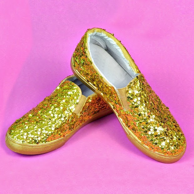 How-To: Sparkly Sequin Shoes