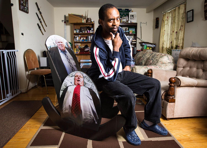 Mayor Rob Ford Cardboard Rocking Chair