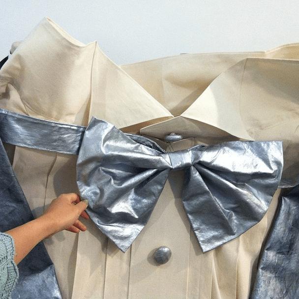 Phyllis Ma's Giant Tuxedo Installation