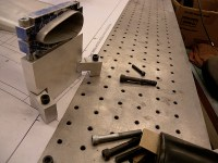 The tube clamps used for mitering also doubled as welding fixtures.