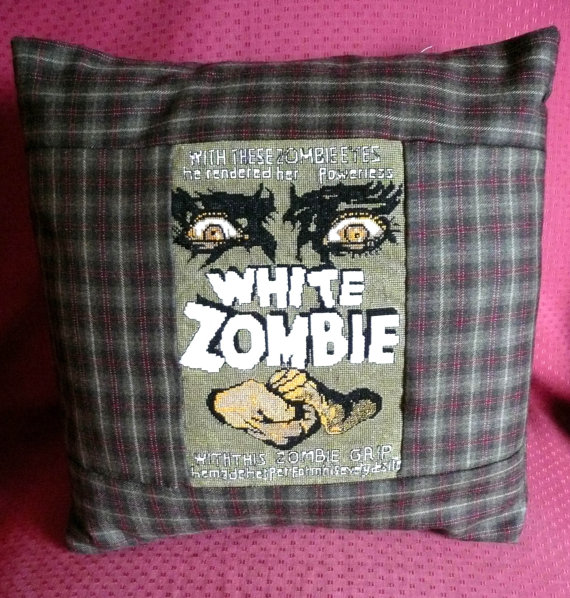 Cross-Stitched Horror Movie Poster Cushions