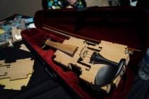 Laser cut violin