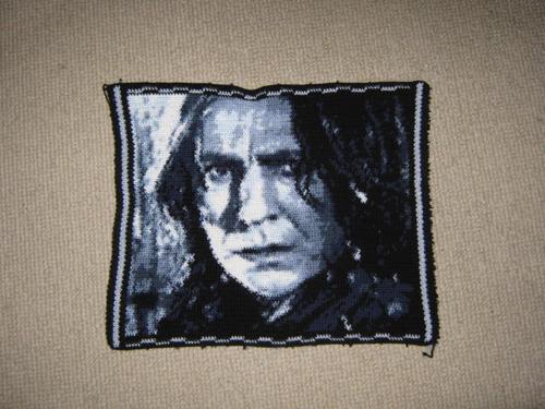 Photorealistic Crocheted Harry Potter Cushion