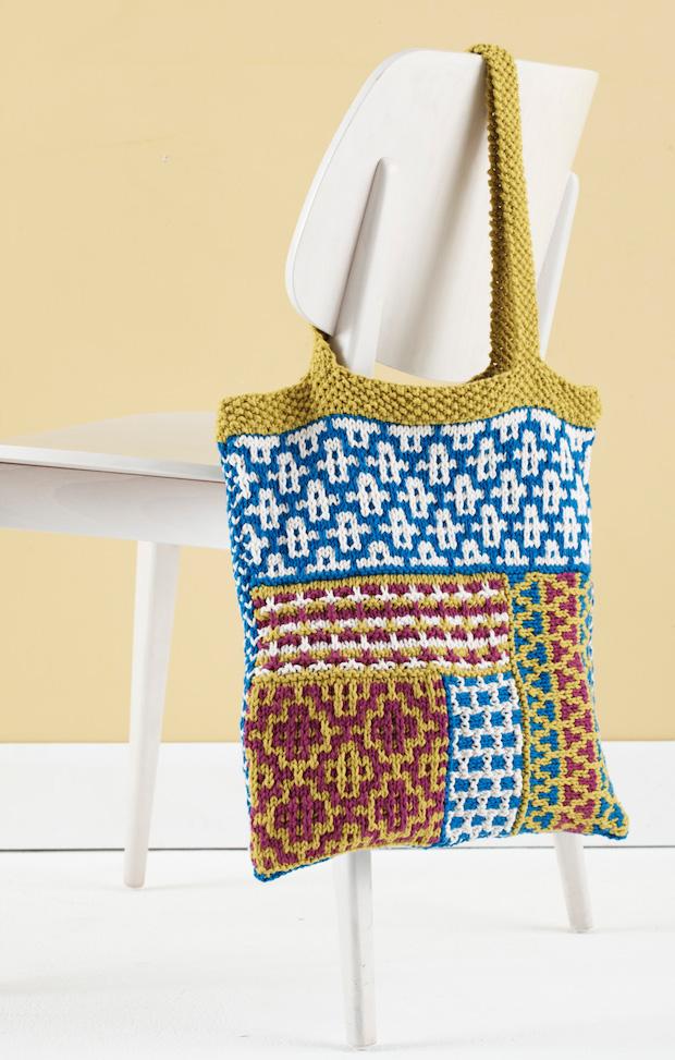 Knitting Pattern: Slip Stitch Mosaic Tote