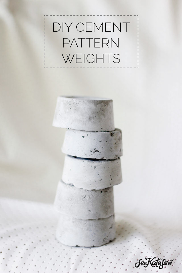 How-To: DIY Cement Sewing Pattern Weights