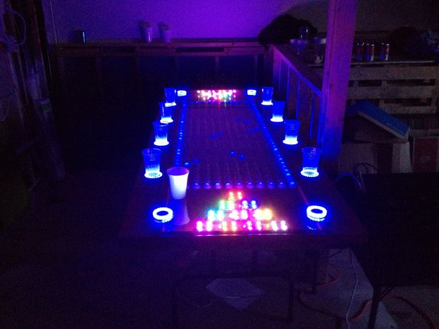 As Seen In The Video Below, The LED Filled Ping Pong Balls Can Display An  Amazing Array Of Effects, Powered By A PC And A Custom LED Control Board.