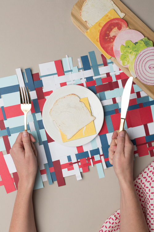 How-To: Woven Paper Placemats for Fourth of July