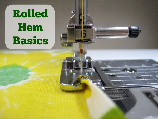 Sewing Tip: Rolled Hem Foot Basics