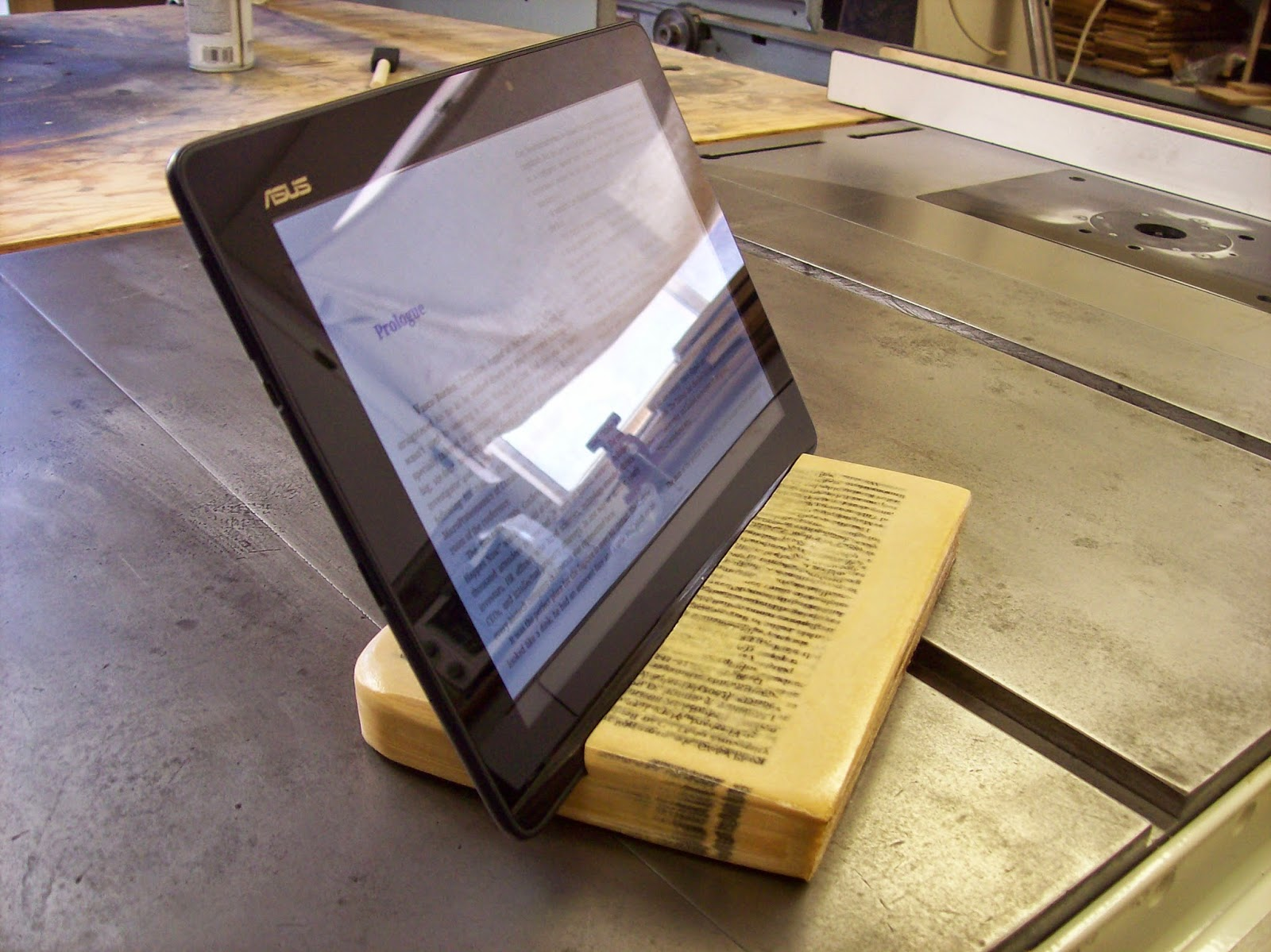 Tablet Stand Made From A Book