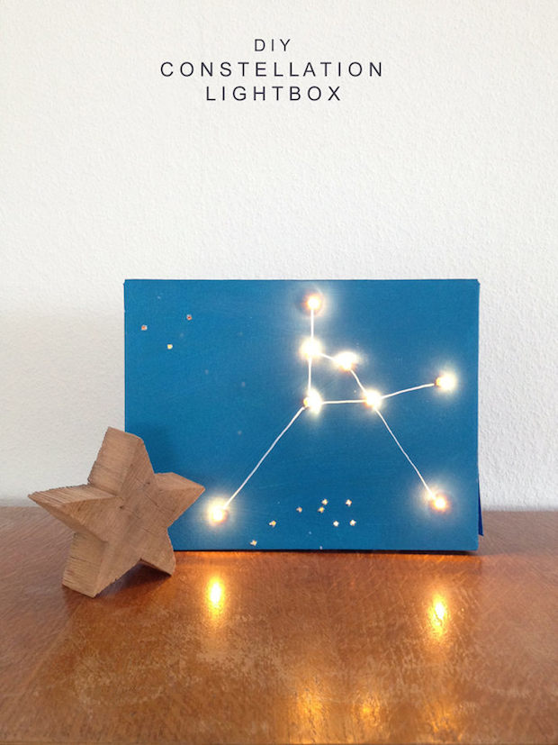 How To DIY Constellation Light Box Make